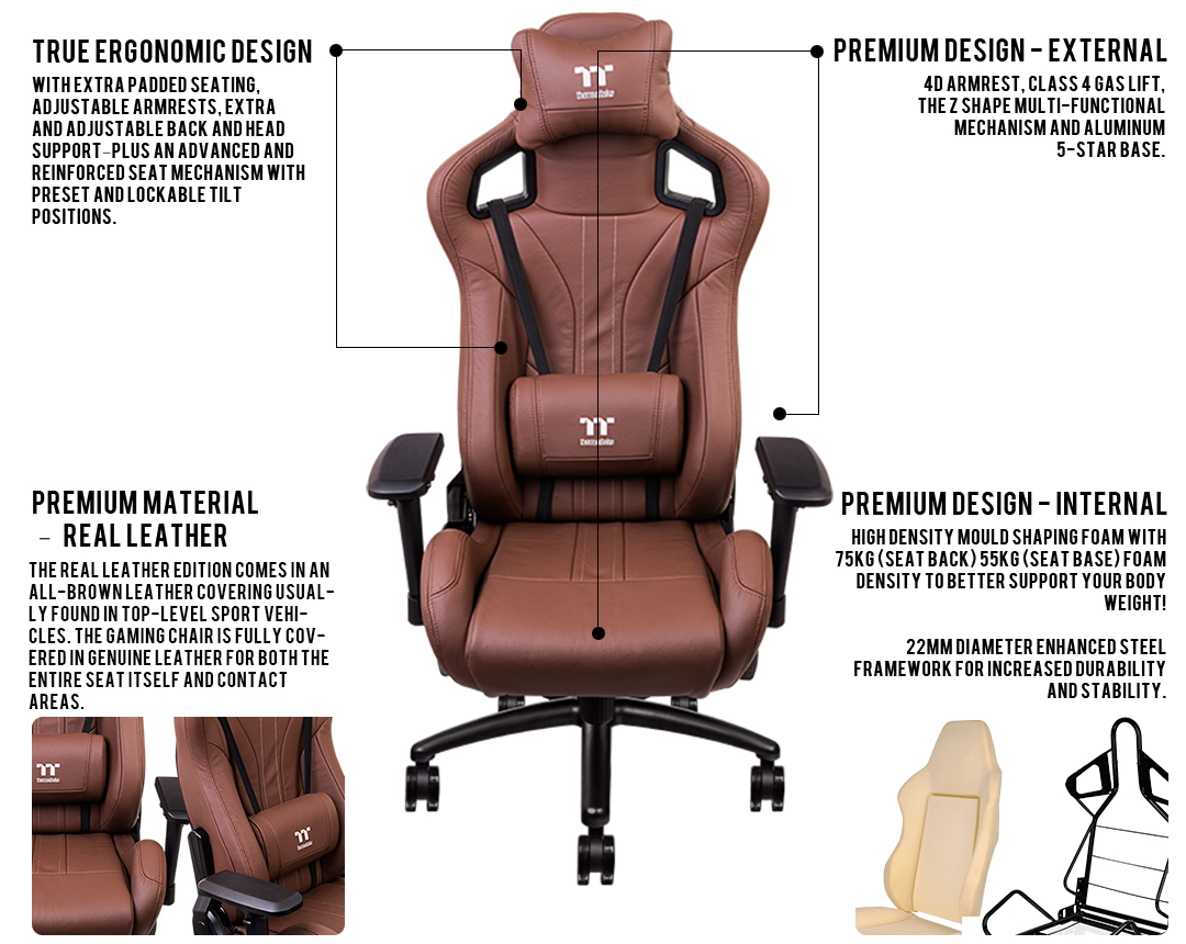 Cool X Fit Real Leather Brown Ncnpc Chair Design For Home Ncnpcorg